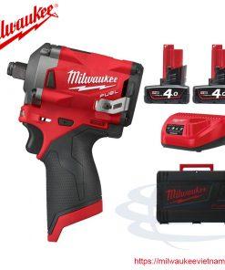 Máy siết bu lông Milwaukee M12 FIWF12-402C (SET 2 pin 4Ah)